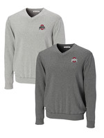 Cutter & Buck Ohio State University Big & Tall Broadview V-Neck Sweater