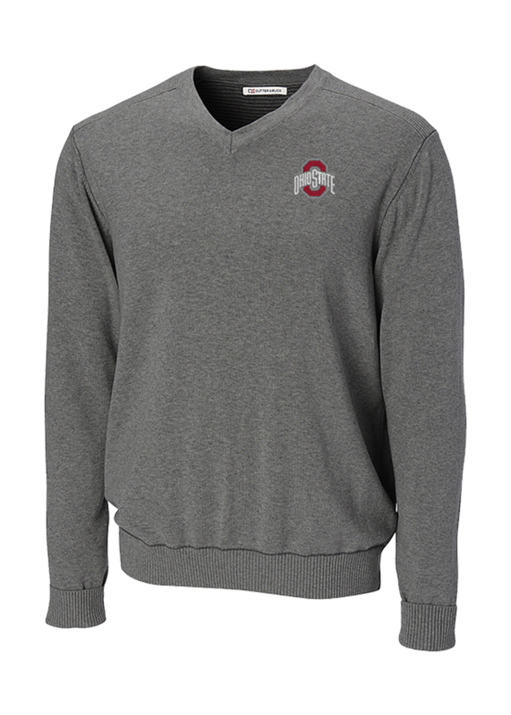 Cutter & Buck Ohio State University Big & Tall Broadview V-Neck Sweater