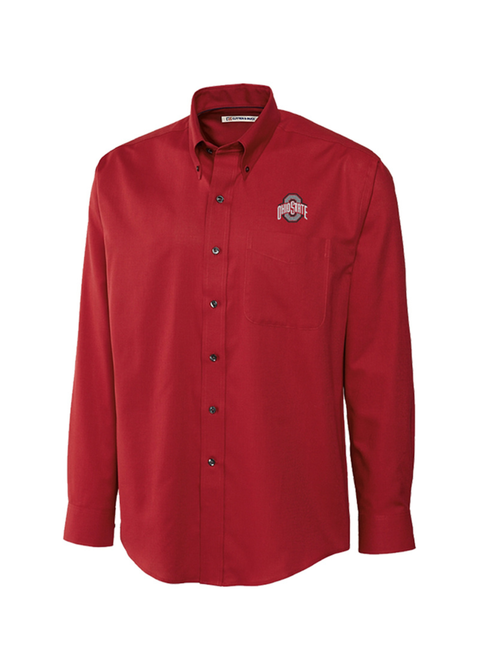 Cutter & Buck Ohio State University Long Sleeve Epic Easy Care Nailshead Shirt