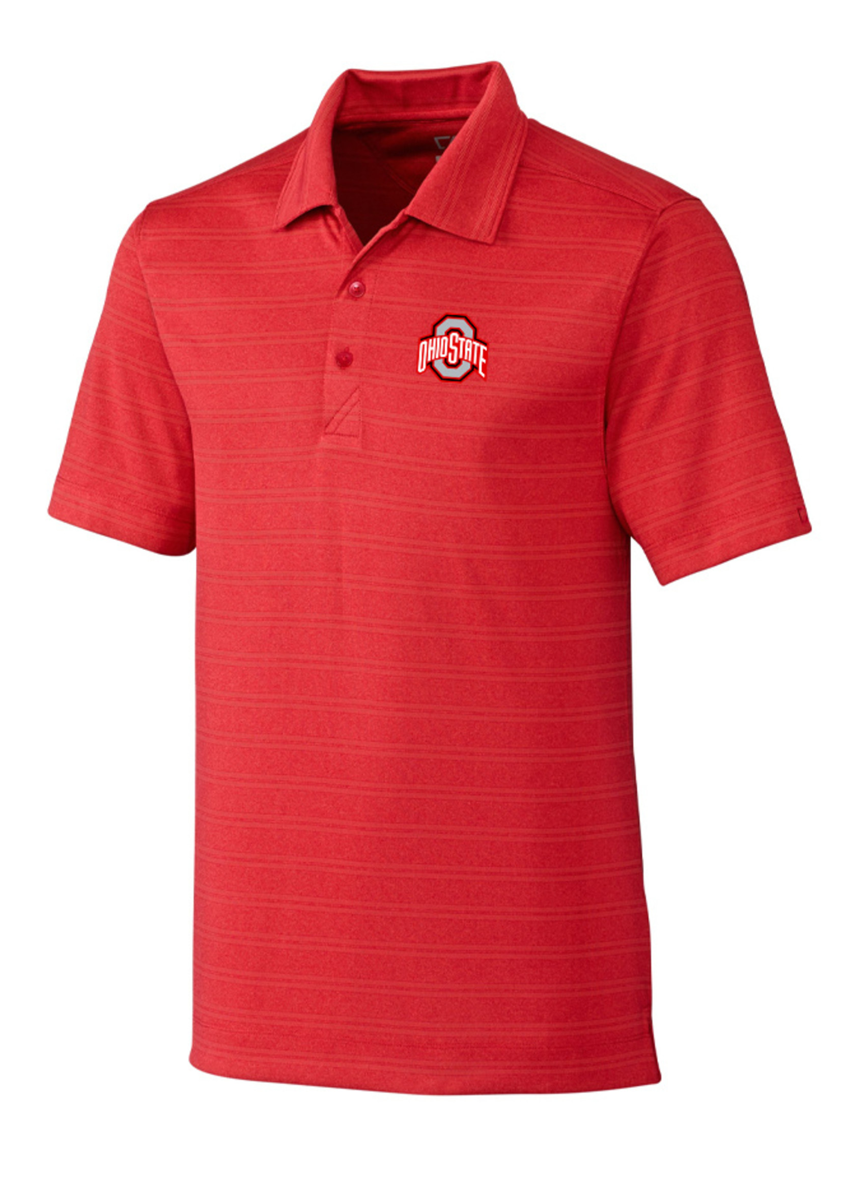 Cutter & Buck Ohio State Buckeyes Interbay Melange Stripe Polo