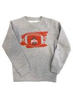 Ohio State Buckeyes Kids Football Crewneck Sweatshirt