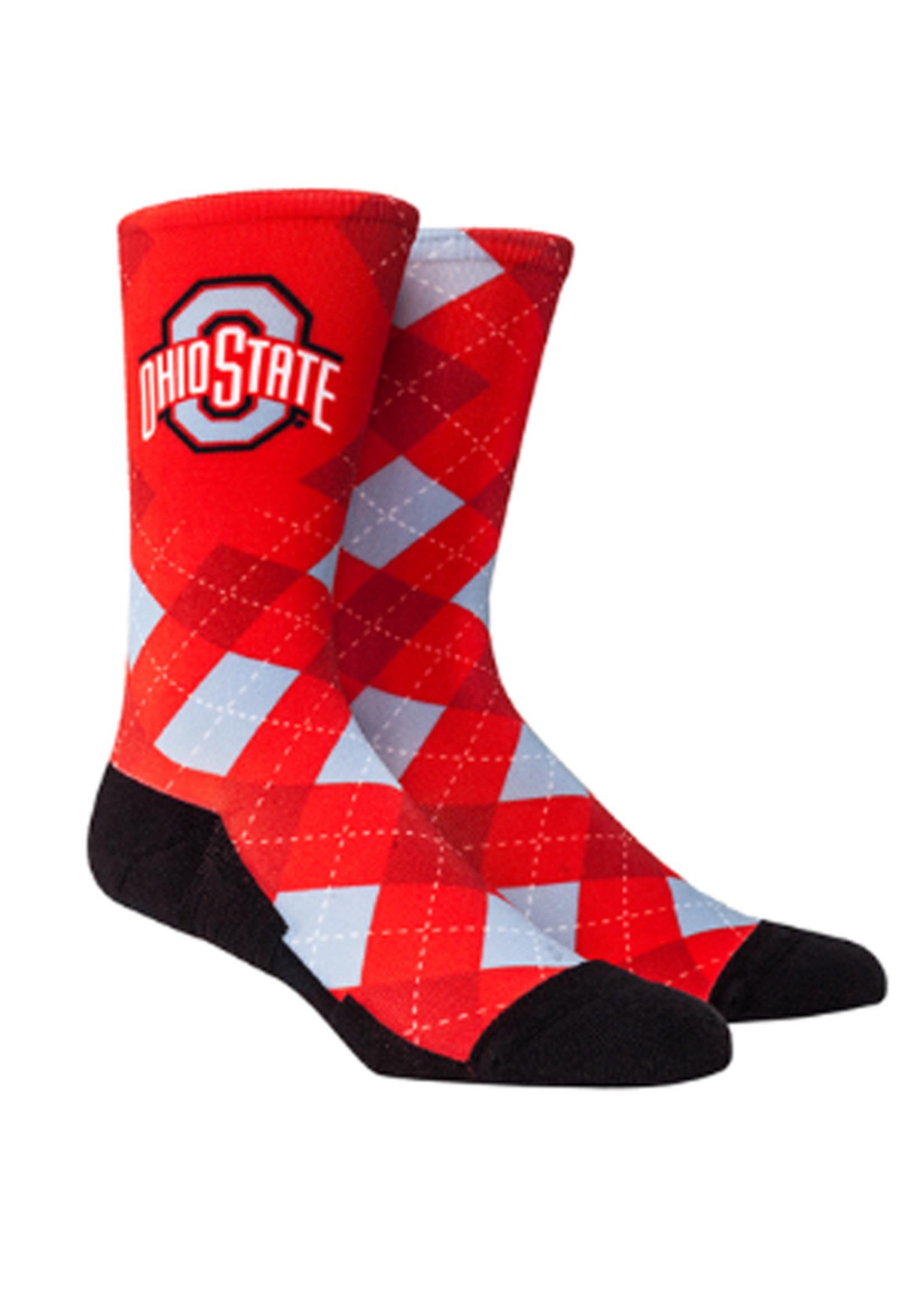 Ohio State Buckeyes HyperOptic Argyle Socks