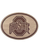 OPEN ROAD BRANDS Ohio State Buckeyes Wood Oval Decor