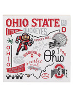 OPEN ROAD BRANDS Ohio State University Collage Wood Wall Décor