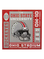 OPEN ROAD BRANDS Ohio State University Ticket Wood Wall Décor
