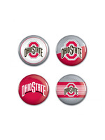 Wincraft Ohio State Buckeyes Red/Gray Buttons - 4Pk 1.25""
