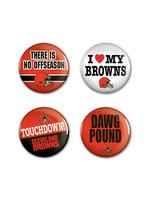 Wincraft Cleveland Browns 4pk Buttons