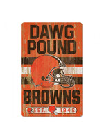 Wincraft Cleveland Browns Dawg Pound Wood Sign 11x17