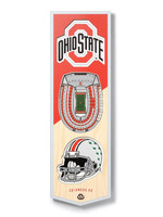 "Ohio State Buckeyes 6""x19"" 3-D Stadium Wall Sign"