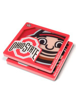 Ohio State Buckeyes 3D Logo 2-Piece Acrylic Coasters