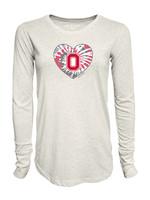 Ohio State Buckeyes Women's Tie Dye Heart Long Sleeve