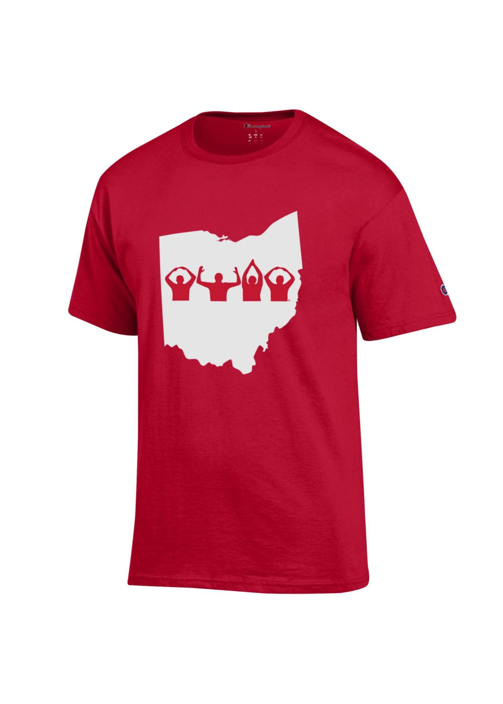 Champion Ohio State Buckeyes O-H-I-O Tee