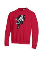 Champion Ohio State Buckeyes Red Brutus Crew Sweatshirt