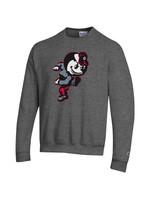 Champion Ohio State Buckeyes Grey Brutus Crew Sweatshirt