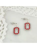 Ohio State Enamel Logo Earrings