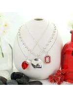 Ohio State Buckeyes Trio Necklace Set