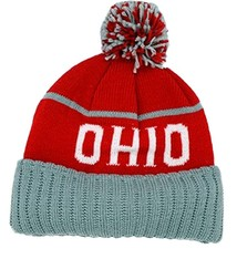 OHIO Pom Knit Beanie Hat