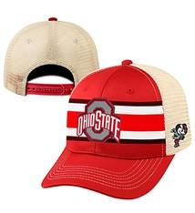 "Top of the World Ohio State University ""Audible 1"" Helmet Stripe Trucker Hat"