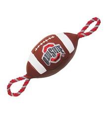 Ohio State University Pebble Grain Football Dog Toy