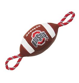 Ohio State University Pebble Grain Football Dog Toy
