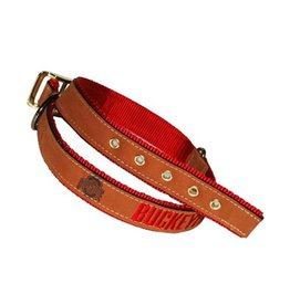 Ohio State Buckeyes Zeppro Leather Dog Collar