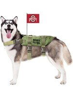 Ohio State University Pet Tactical Vest Harness w/ Flag