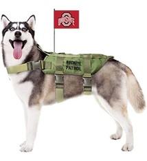 Ohio State University Pet Tactical Vest Harness w/ Flag