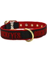 Ohio State University Leather Pet Collar