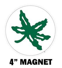 "Ohio State University Buckeye Leaf 4"" Magnet"