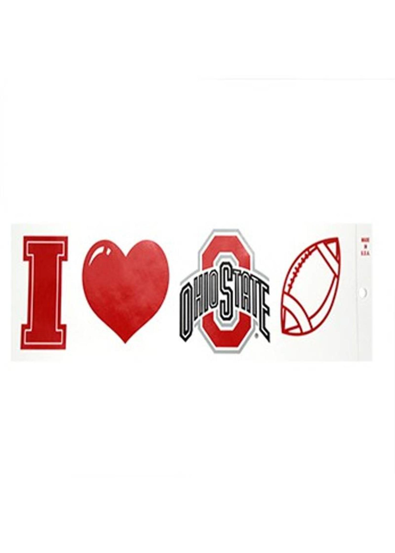 "Ohio State University ""I Heart Ohio State Football"" Bumper Sticker"