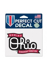 Wincraft Ohio State University 4x5 Script Ohio Decal