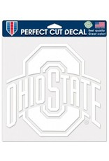"Wincraft Ohio State University 8"" x8"" White Athletic O Decal"