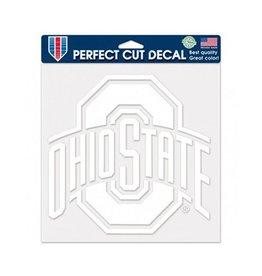 "Wincraft Ohio State University 8"" x8"" White Athletic O Decal"