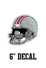 """Ohio State University 6"""" Helmet Decal"""