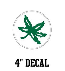 "Ohio State University 4"" Reward Leaf Decal"