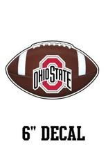 "Ohio State University 6"" Football Decal"