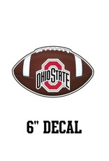 "Ohio State University 6"" Football Decal"