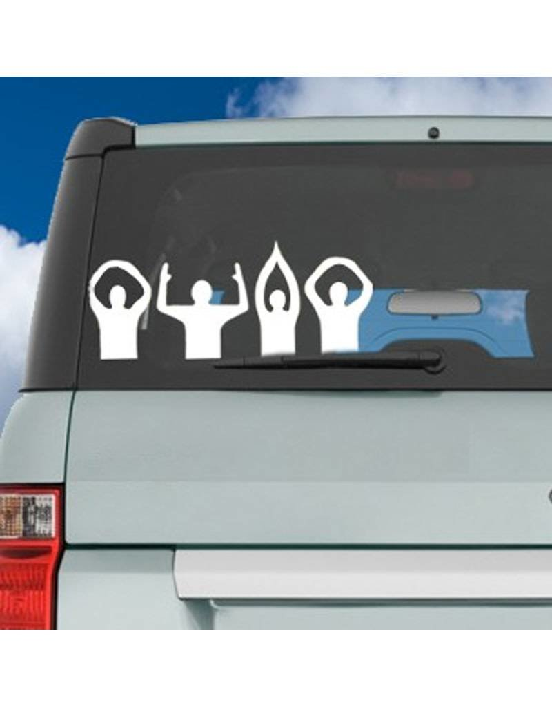 O-H-I-O Letters People ColorShock Decal