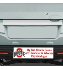 My Two Favorite Teams Bumper Sticker