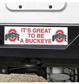"Ohio State University ""It's Great To Be A Buckeye"" Bumper Sticker"