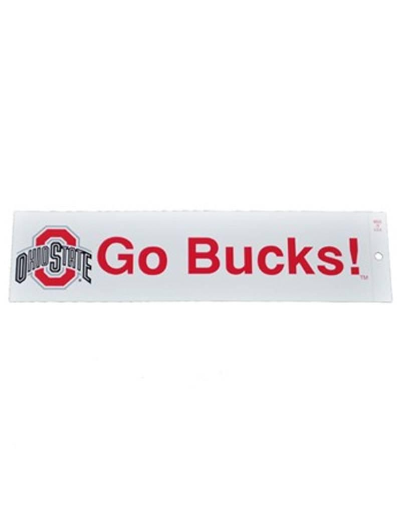 "Ohio State University ""GO BUCKS!"" Bumper Sticker"