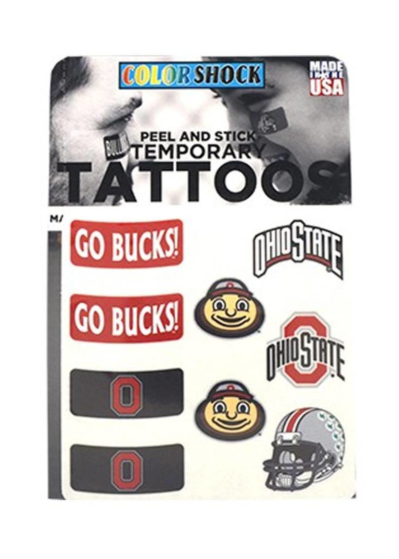 Ohio State Buckeyes Peel and Stick Tattoos