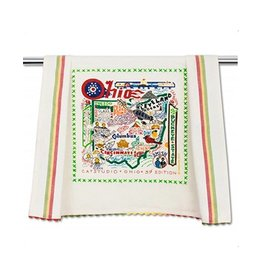 Catstudio State of Ohio Dish Towel