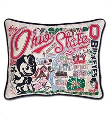 Catstudio Ohio State University Hand-Embroidered Pillow