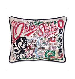 Catstudio Ohio State University Hand-Embroidered Pillow