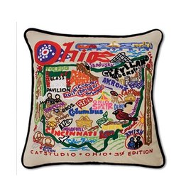 Catstudio Ohio Hand-Embroidered Pillow