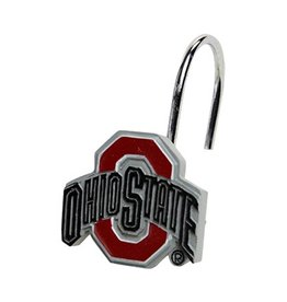 Ohio State University Shower Curtain Hooks - 12 Pack