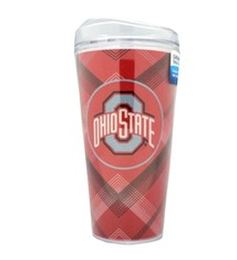 Ohio State University Plaid GlitterMax Tumbler