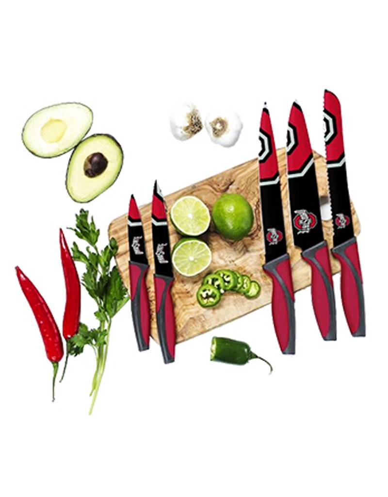 Ohio State University 5 Piece Cutlery Knife Set