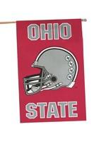 Ohio State University Two-Sided Football Helmet Flag